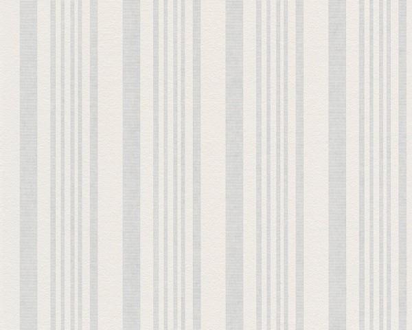 A.S. Création Tapete - Meistervlies 4 , # 571014, überstreichbare Vliestapete, weiß, rissüberbrücken