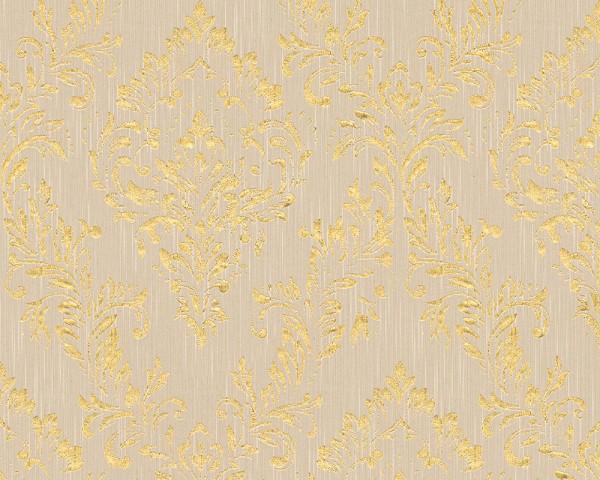A.S. Création, Metallic Silk, # 306592, Vliestapete, Beige Metallic
