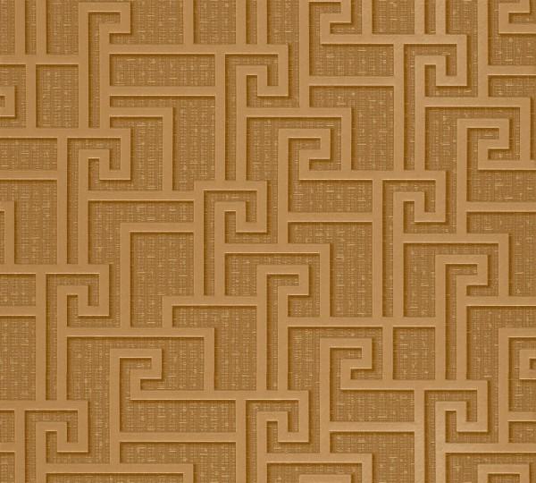 A.S. Création, Versace 2, # 962361, Vliestapete, Braun Gelb Metallic, 10,05 m x 0,70 m