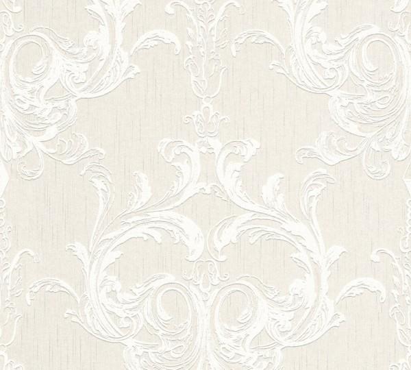 A.S. Création, Tessuto 2, # 961962, Vliestapete, Creme Weiß