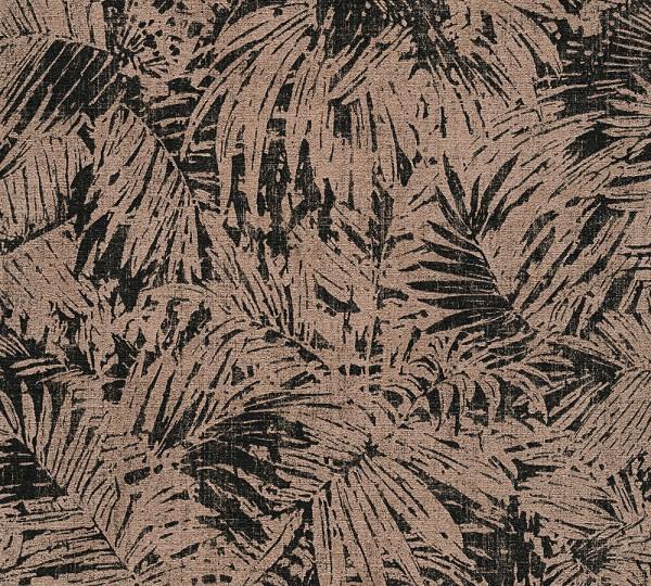 A.S. Création, Borneo, # 322631, Vliestapete, Metallic Schwarz