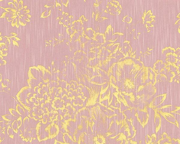 A.S. Création, Metallic Silk, # 306575, Vliestapete, Rosa Metallic,Blüten