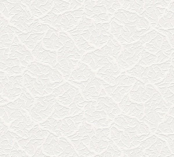 A.S. Création, Simply White 3, # 987810 , weiß, struktur, Vliestapete, 10,05m x 0,53m