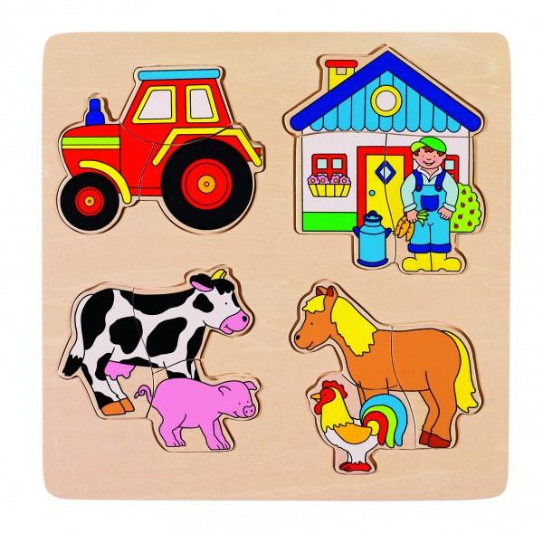 Einlegepuzzle Bauernhof
