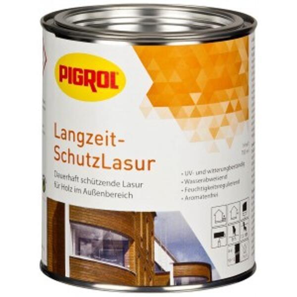 Pigrol Langzeit-SchutzLasur antikweiß 10 Liter