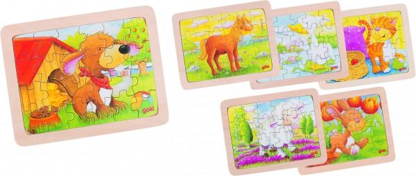 GOKI - Einlegepuzzle Tiere II