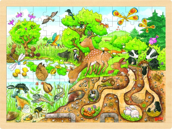 Einlegepuzzle Erlebnis Natur