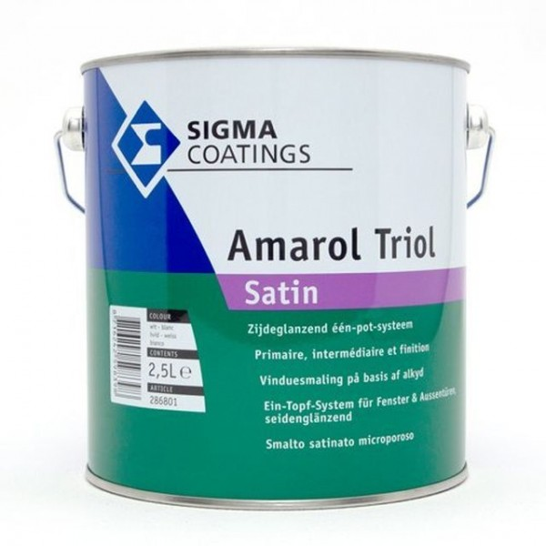 Sigma Amarol Triol Satin weiß 2,5 L