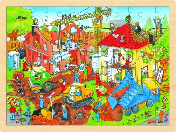 Einlegepuzzle Baustelle