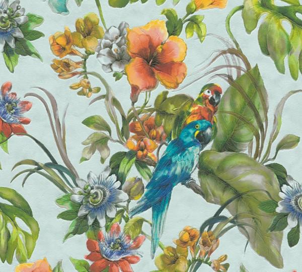A.S. Création, Il Decoro, # 300152, Papiertapete, Blau Bunt