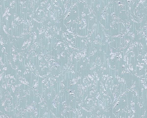 A.S. Création, Metallic Silk, # 306605, Vliestapete, Blau Grün