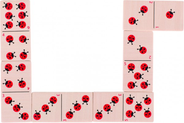 Dominospiel Marienkäfer