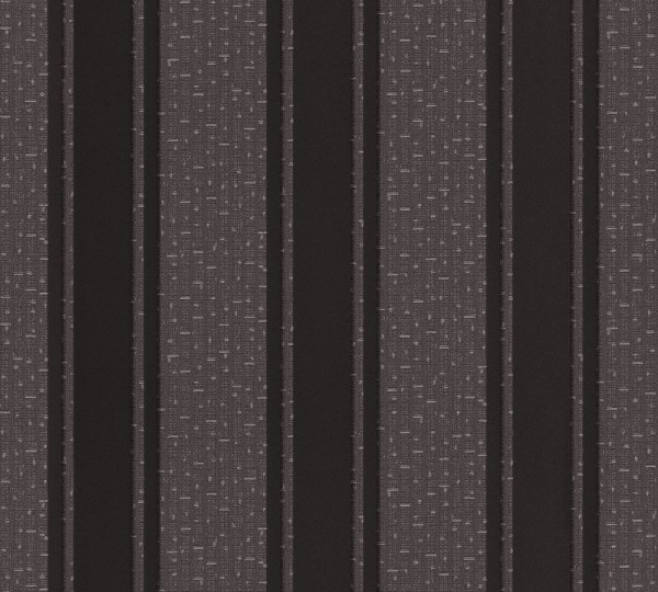 A.S. Création, Versace 2, # 962373, Vliestapete, Streifen, Grau Metallic Schwarz, 10,05 m x 0,70 m
