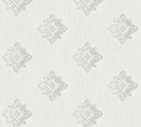 A.S. Création, Tessuto 2, # 962001, Vliestapete, Grau Weiß