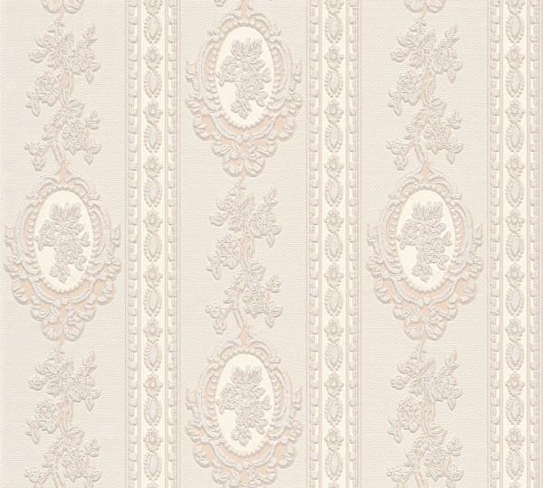 A.S. Création, Belle Epoque, # 186133, Papiertapete, Beige Creme Metallic