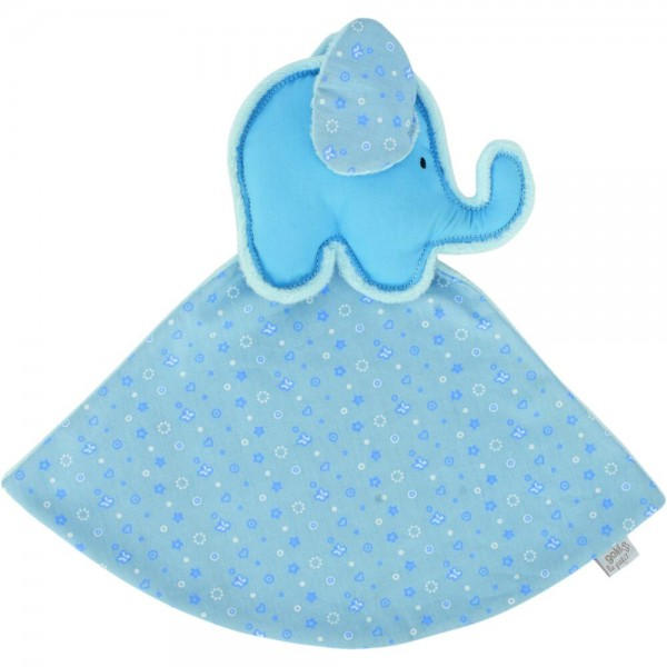 Kuscheltuch Elefant (blau), le petit