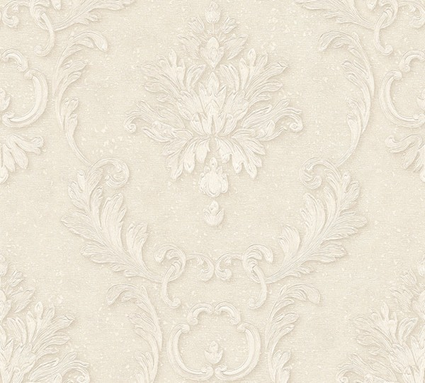 A.S. Création, Luxury wallpaper, # 324221, Vliestapete, Creme Metallic