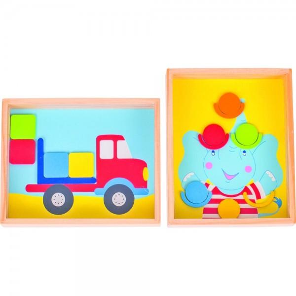Geduldspiele Elefant und Lastwagen