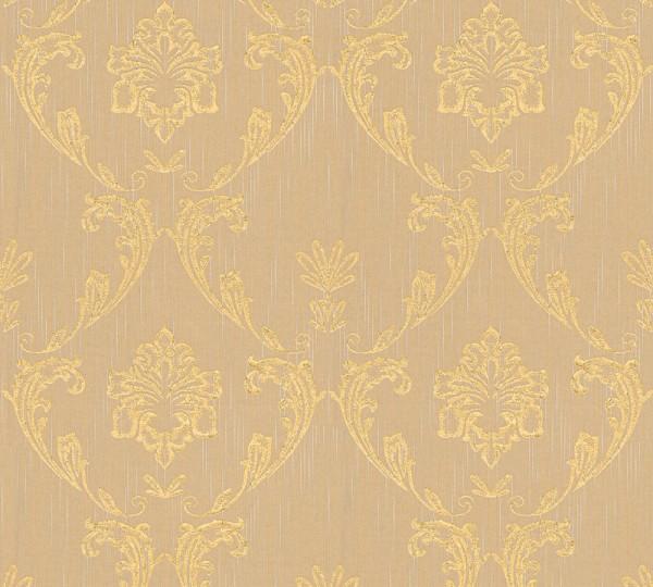 A.S. Création, Metallic Silk, # 306584, Vliestapete, Beige Metallic