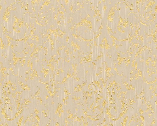 A.S. Création, Metallic Silk, # 306602, # Vliestapete, Beige Metallic