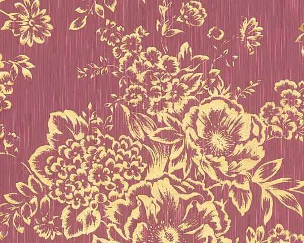 A.S. Création, Metallic Silk, # 306576, Vliestapete, Rot Metallic, Blüten