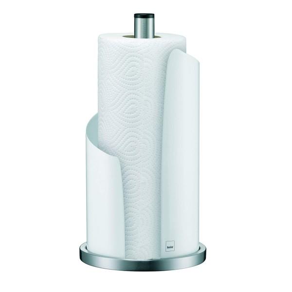 Kela - Küchenrollenhalter Stella #11201, 15 cm Durchmesser, Edelstahl/Metall, Weiß