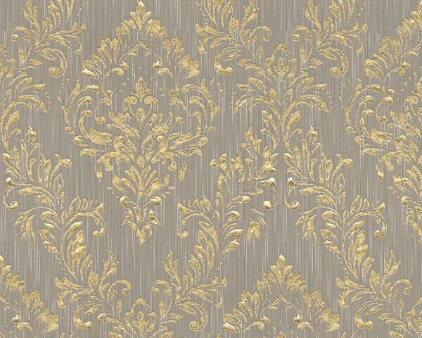 A.S. Création, Metallic Silk, # 306593, Vliestapete, Beige Metallic