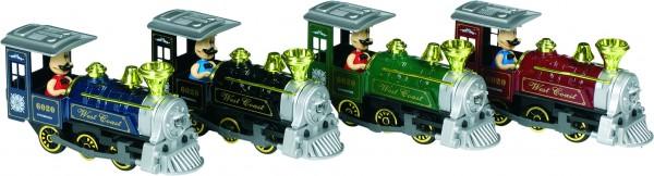 Klassische Lokomotive mit Geräusch und Licht, L= 15 cm