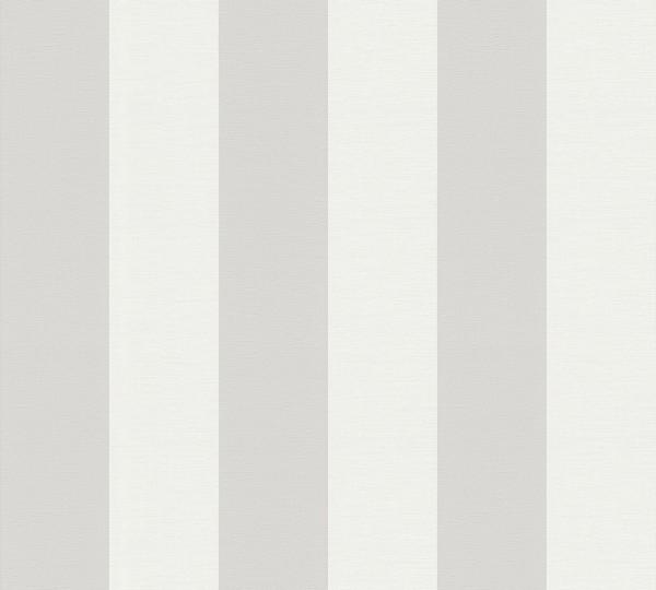 A.S. Création, Simply Stripes, # 314031, Vliestapete, Streifen, Grau Weiß