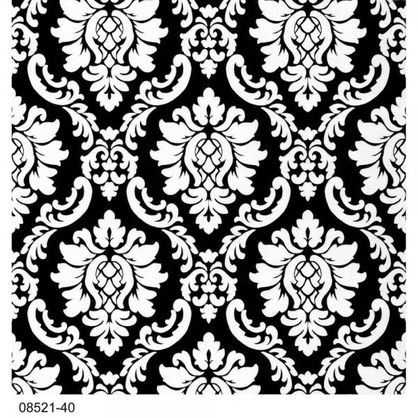 P+S Tapete 08521-40 Profilverschnitt 2018, Ornament, schwarz weiss, hochwaschbeständig, gute Lichtbe