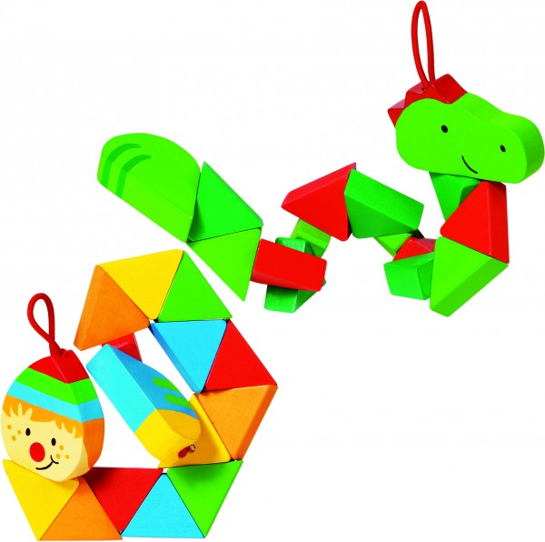 Pocket Puzzle Krokodil und Clown