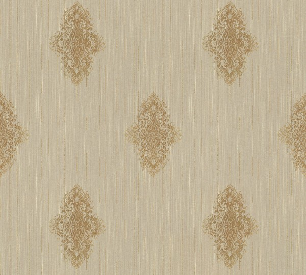 A.S. Création, Luxury wallpaper, # 319463, Vliestapete, Beige Metallic