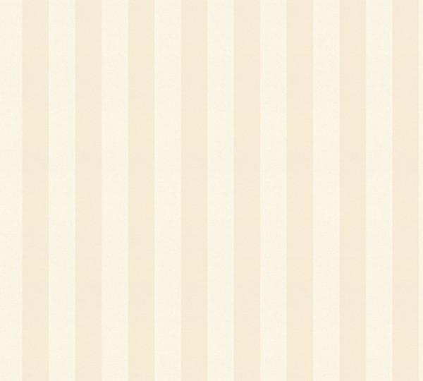 A.S. Création, Romantica 3, # 312112, Vliestapete, Streifen, Creme Metallic