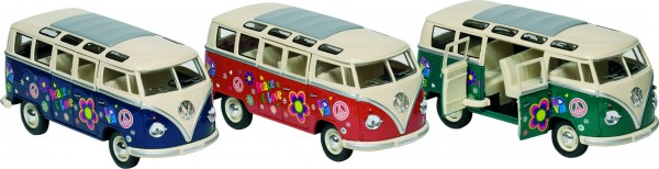 GKI Volkswagen Microbus mit Druck, Spritzguss, 1:24, L= 17,8 cm