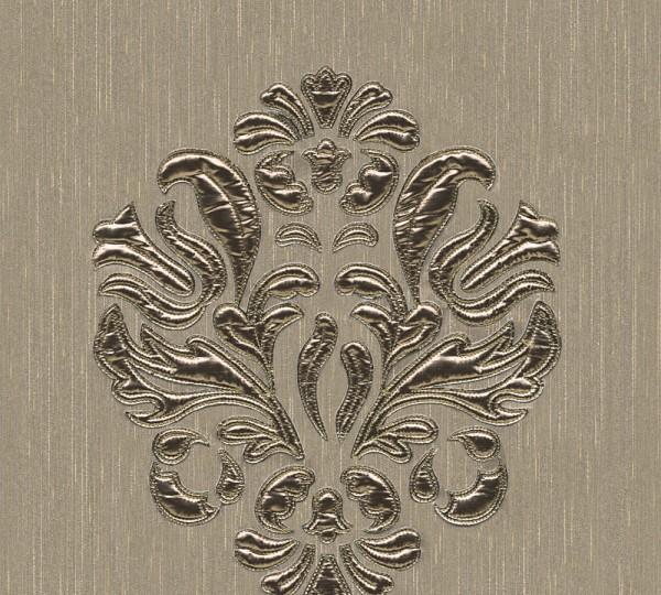 A.S. Création, Wall Fashion,# 306344, Vliestapete, Creme Metallic,3,20 m x 0,53 m