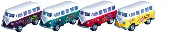 VW Microbus mit Druck (1962), Spritzguss, 1:64, L= 6,5 cm
