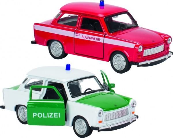 Trabant 601 Polizei, Feuerwehr aus Spritzguss