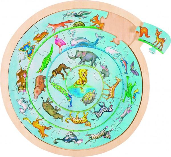Einlegepuzzle Tierkreis