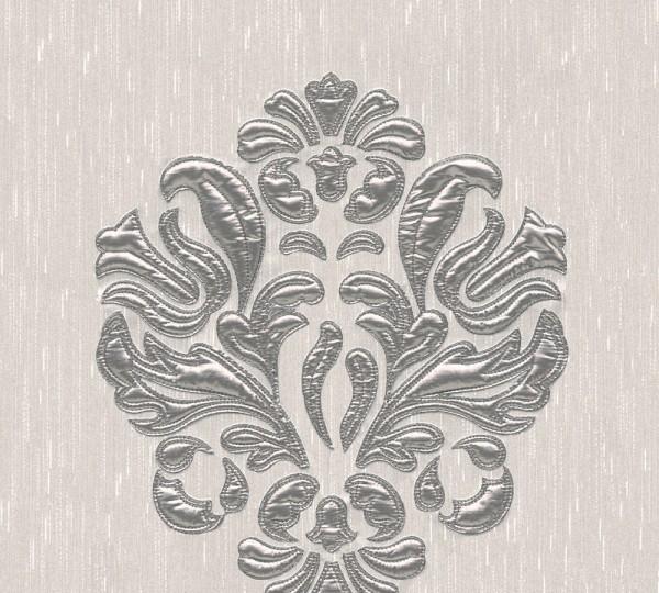 A.S. Création, Wall Fashion, # 306342, Vliestapete, Creme Metallic, 3,20 m x 0,53 m