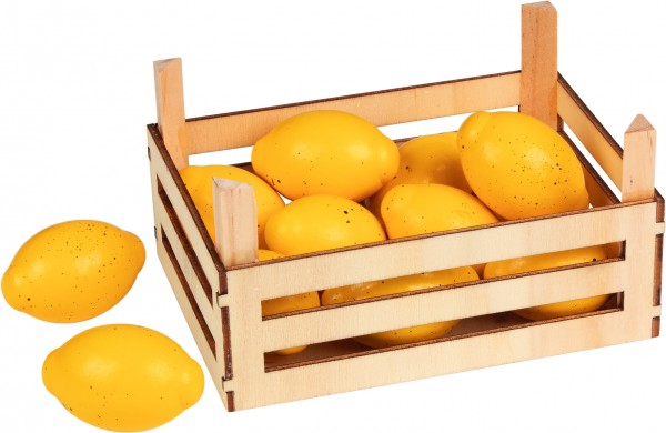 Zitronen in Obstkiste