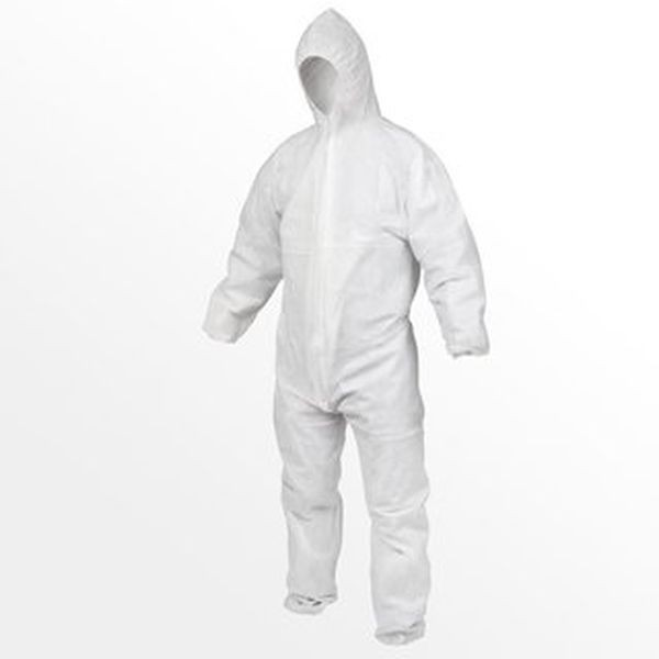 PP Einweg Overall Schutzsanzug XL= 56/58 Arbeitsoverall Maleranzug 5 Stück Einweganzug, Einwegoveral
