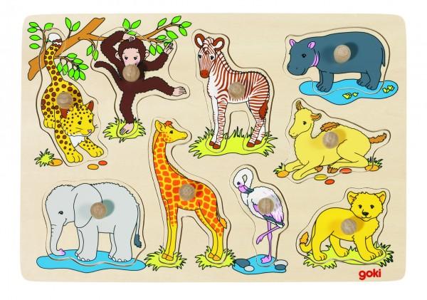 Steckpuzzle Afrikanische Tierkinder