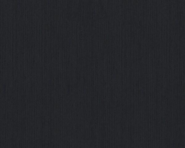 A.S. Création, Metallic Silk, # 968531, Vliestapete, uni, Schwarz