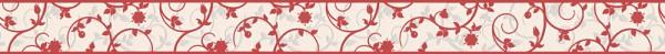 A.S. Création, Only Borders 10, # 962131, Borte aus Papier, Rot Weiß, 5,00 m x 0,05 m