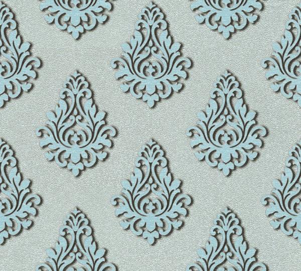 A.S. Création, Nobile, # 959816 , Vliestapete, Blau Metallic, 10,05 m x 0,70 m