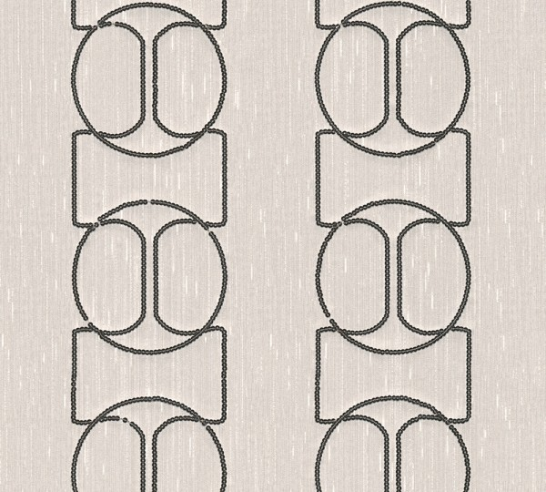 A.S. Création, Wall Fashion, # 306132, Vliestapete, Creme Metallic, 3,20 m x 0,53 m
