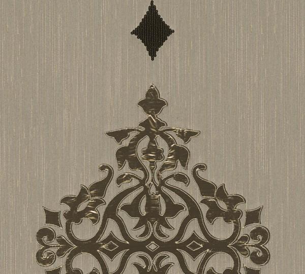 A.S. Création, Wall Fashion, # 306171, Vliestapete, Creme Metallic, 3,20 m x 0,53 m