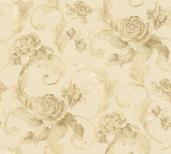 A.S. Création, Nobile, # 959831, Vliestapete, beige, Metallic, 10,05 m x 0,70 m