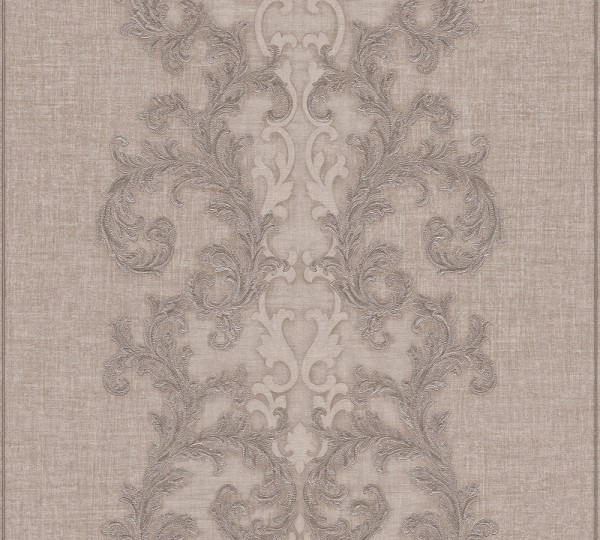 A.S. Création, Versace 2, # 962321, Vliestapete, Braun Grau Metallic, 10,05 m x 0,70 m