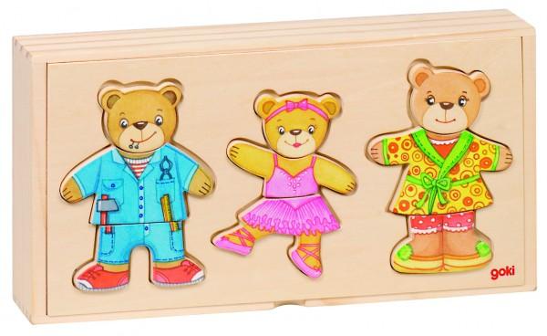 Anziehpuppenpuzzle Bärenfamilie, goki basic.